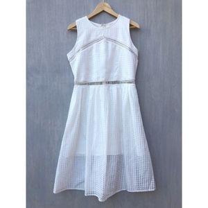NWT River Island white gingham midi dress 10